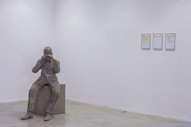 Diego Tonus & Anonimo, A Moment of Darkness, 2018. Courtesy l'artista. Installation view at MAMbo, Bologna 2018. Photo E&B Photo