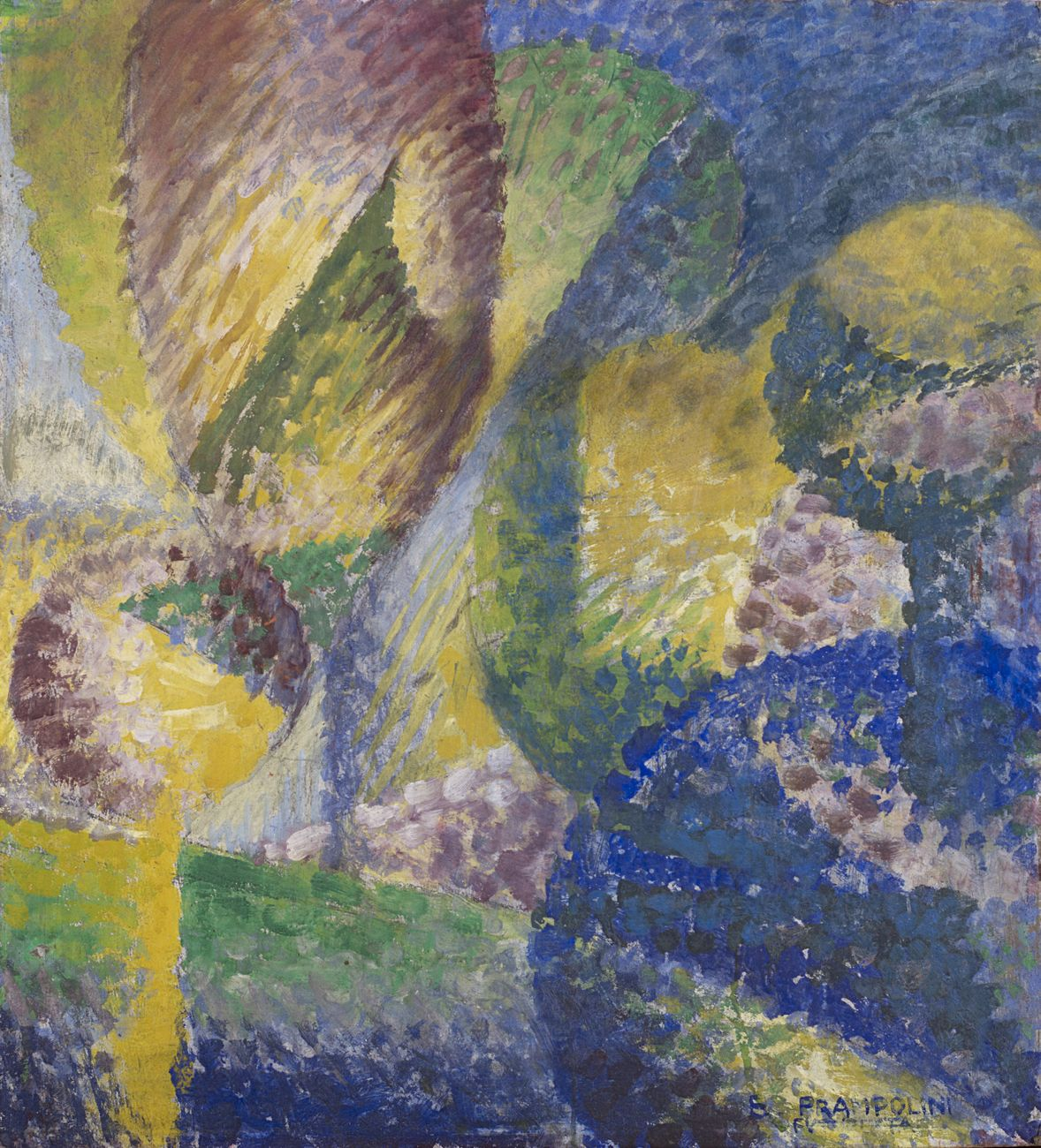 Enrico Prampolini, Sensazione cromatica di giardino, 1914. Courtesy Il Ponte