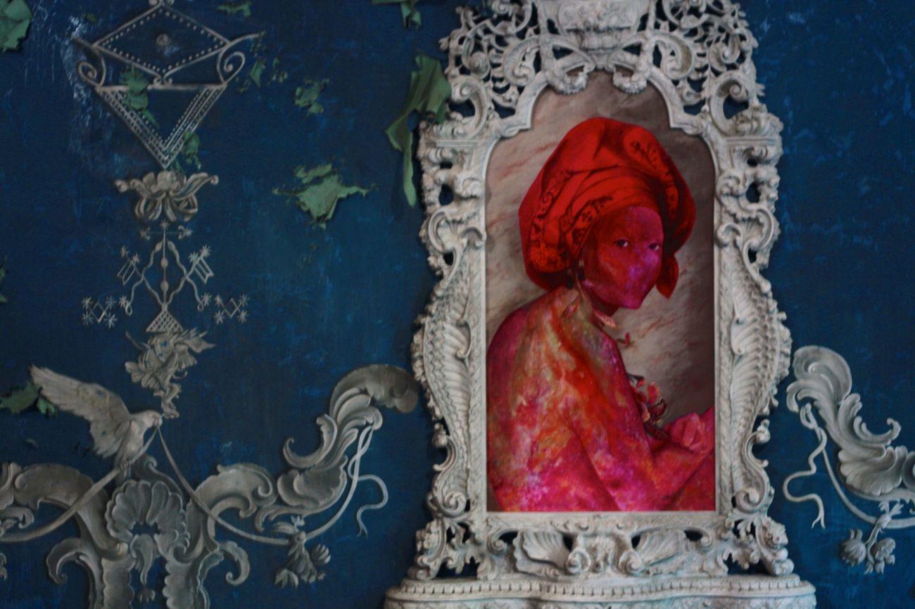 Firelei Báez, For Marie Louise Coidavid, exiled, keeper of order, Anacaona, 2018. Courtesy Firelei BáeZ, Kavi Gupta Gallery, Chicago. Credit Sergio Matalucci