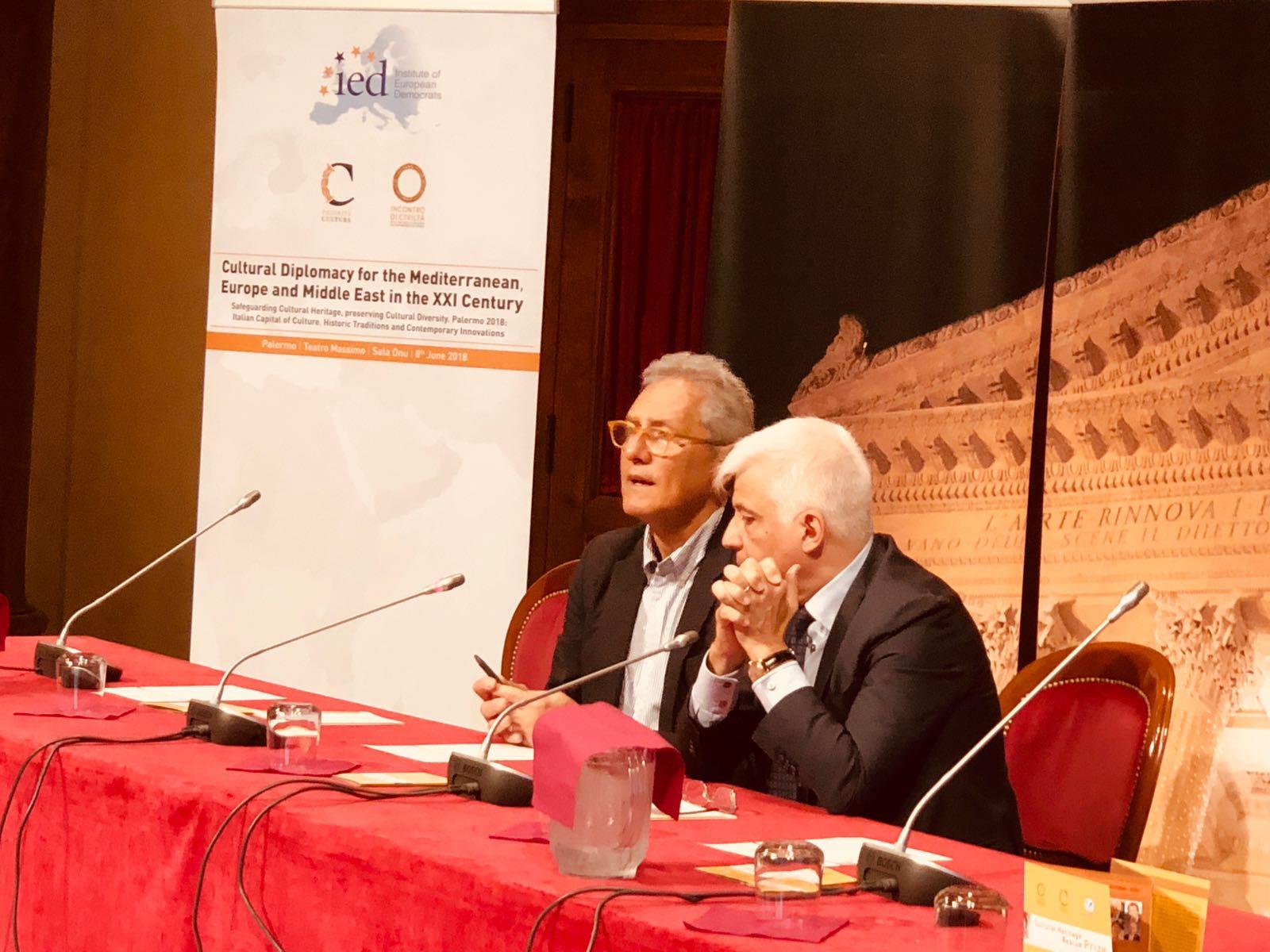 Francesco Rutelli e il Sovrintendente del Teatro Massimo di Palermo, Francesco Giambrone