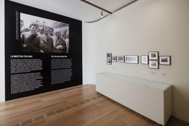 Frank Lloyd Wright tra America e Italia. Exhibition view at Pinacoteca Giovanni e Marella Agnelli, Torino 2018