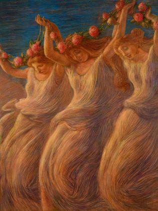 Gaetano Previati, La danza (Pastorale), 1908. Fondazione Il Vittoriale degli Italiani