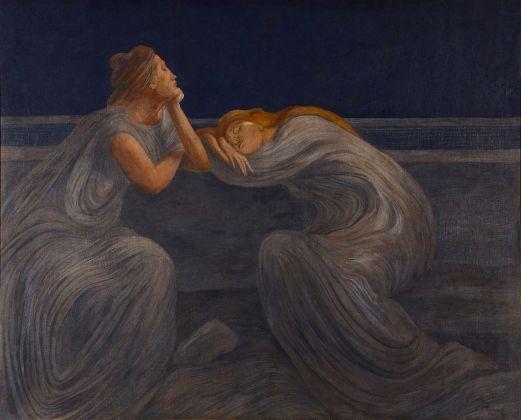Gaetano Previati, Notturno (Il silenzio), 1908. Fondazione Il Vittoriale degli Italiani
