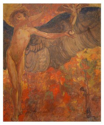 Galileo Chini, Autunno (dal ciclo Quattro stagioni realizzato per il Caffè Paszkowski di Firenze), 1907. Collezione privata. Photo Giusti