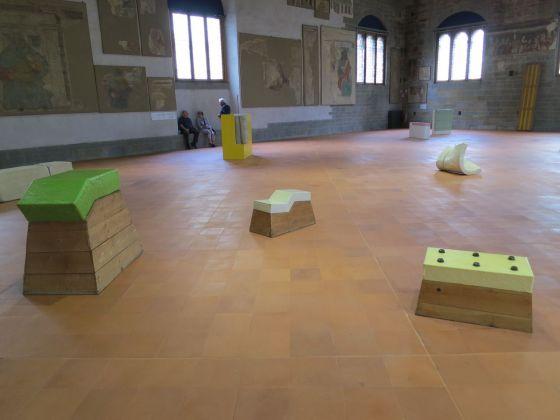 Gary Kuehn. Il diletto del praticante. Exhibition view at Palazzo della Ragione _ GAMeC, Bergamo 2018