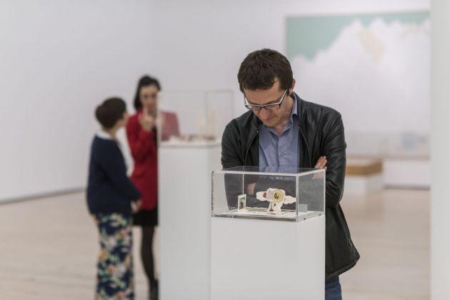 Gianfranco Baruchello. Exhibition view at MART, Rovereto 2018. Photo Mart, Luca Meneghel