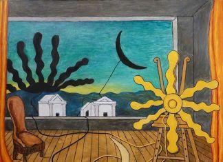 Giorgio de Chirico, Sole sul cavalletto, 1973