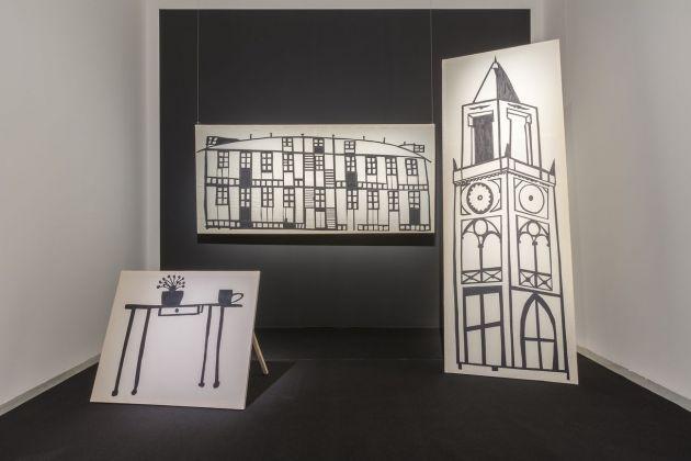 Giulio Squillacciotti, Note sopra le Virtù Materiali per un monologo mai andato in scena, 2017 18. Installation view at MAMbo, Bologna 2018. Photo E&B Photo
