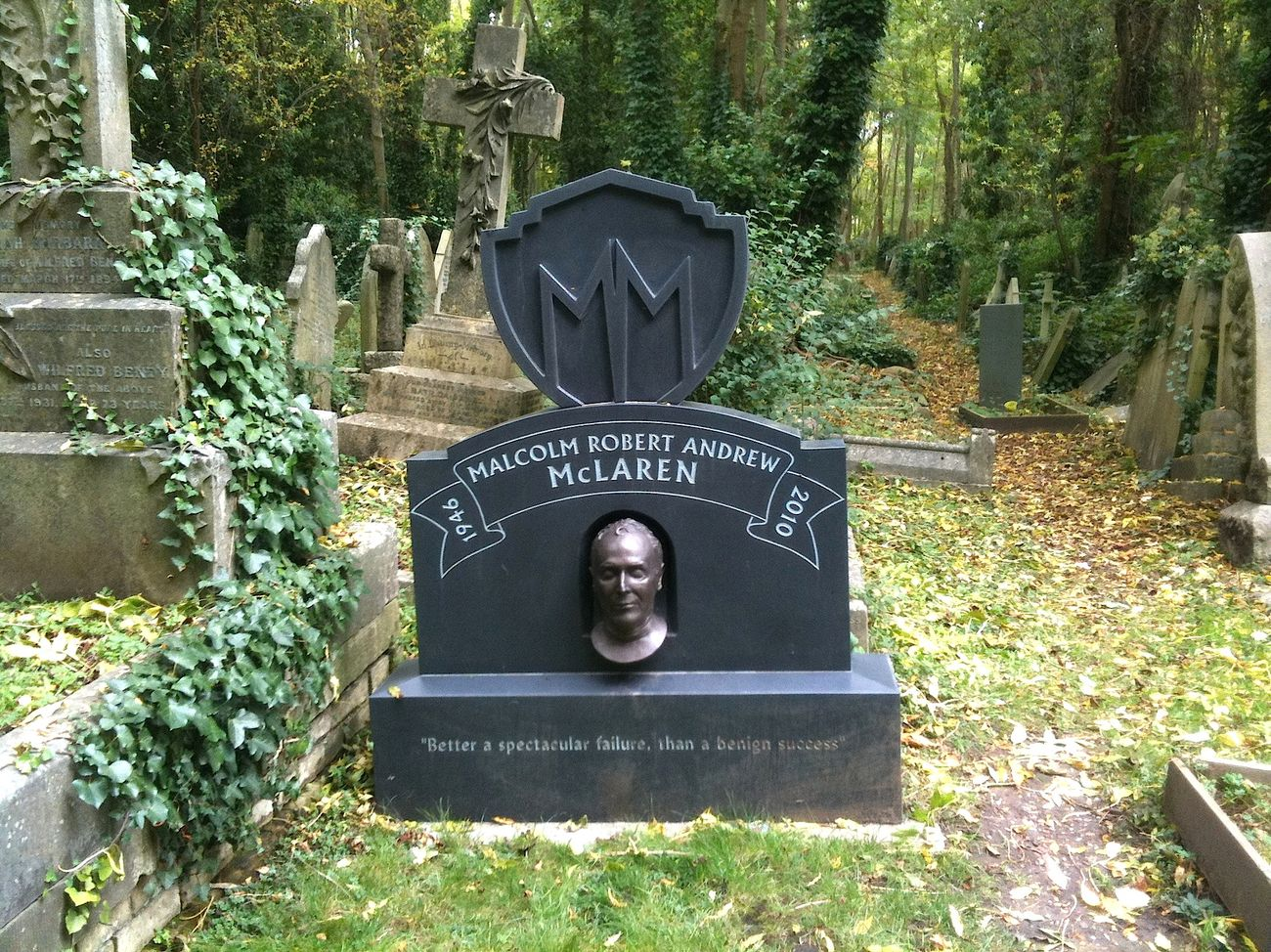 Highate Gardens, Londra. La Tomba di Jim Stnford Horn. Photo Claudia Zanfi
