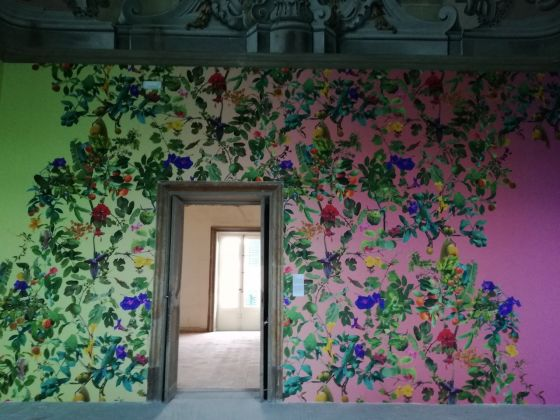 Manifesta 12, Palazzo Butera, Fallen Fruit, Theatre of the Sun, installation view. Ph. Desirée Maida