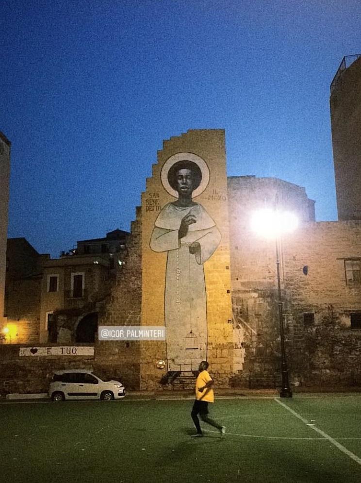 Il muro di Igor Scalisi Palminteri a Ballarò