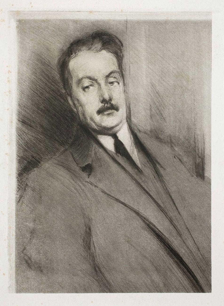 Adolfo Hohenstein, Borghese con il volto di Giacomo Puccini, 1896. Archivio Storico Ricordi, Milano
