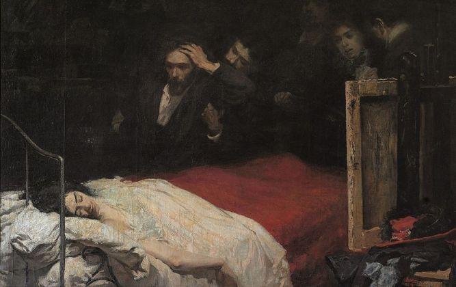 Lionello Balestrieri, Mimì… Mimì… (La morte di Mimì), 1898. Fondazione Cavallini Sgarbi
