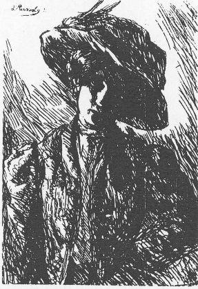 Luigi Russolo, Donna con cappello, 1906-07