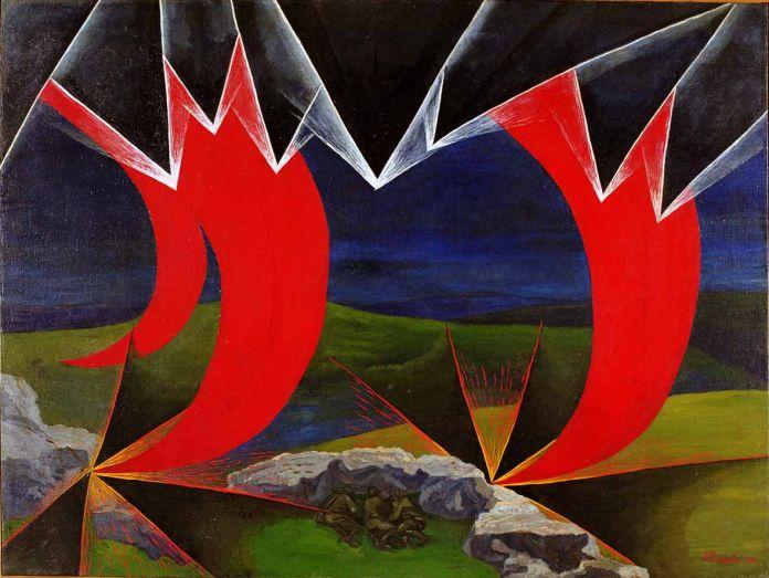 Luigi Russolo, Impressioni di un bombardamento, 1926