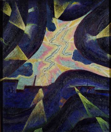 Luigi Russolo, Linee di forza - Forze della Folgore, 1912