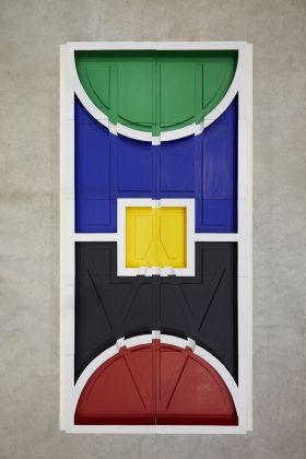 Matt Mullican, Untitled, City Plan (Based on Overall Chart), 1989. Installation view at Pirelli HangarBicocca, Milano 2018. Courtesy dell'artista, Kunsthaus Bregenz e Pirelli HangarBicocca, Milano. Photo Agostino Osio
