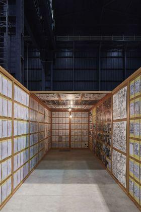Matt Mullican, Untitled (Pavillion), 2005. Installation view at Pirelli HangarBicocca, Milano 2018. Courtesy dell'artista e Pirelli HangarBicocca, Milano. Ringier Collection, Svizzera. Photo Agostino Osio