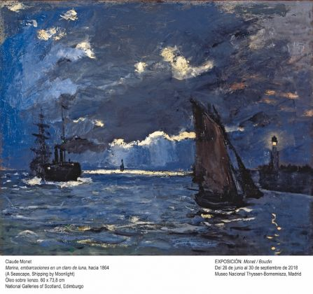 Monet, A Seascape, Shipping by Moonlight