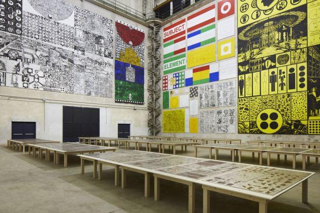 Matt Mullican. The Feeling of Things. Exhibition view at Pirelli HangarBicocca, Milano 2018. Courtesy dell'artista e Pirelli HangarBicocca, Milano. Photo Agostino Osio