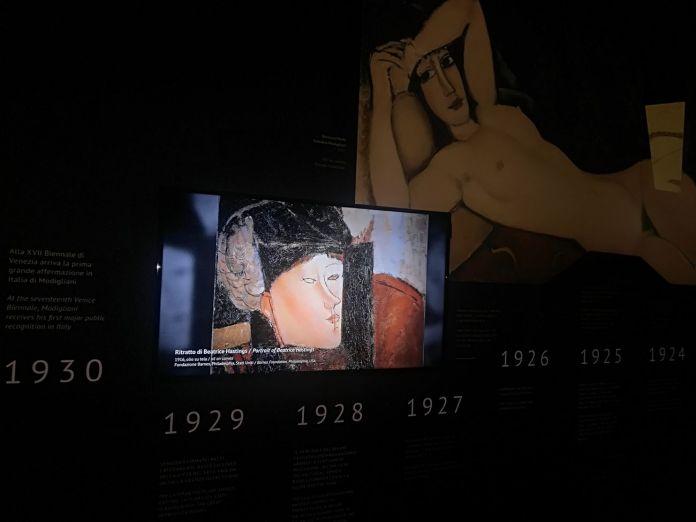Modigliani Opera. Exhibition view at Reggia di Caserta, 2018. Photo credit Fondazione Amedeo Modigliani