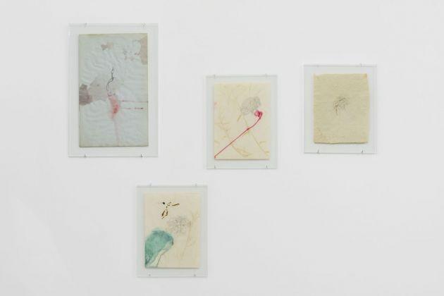 Paula Doepfner, Graveyard dream blues (drawings, sketches, material), 2017. Photo Roberto Apa. Courtesy of the artist & Galleria Mario Iannelli, Roma
