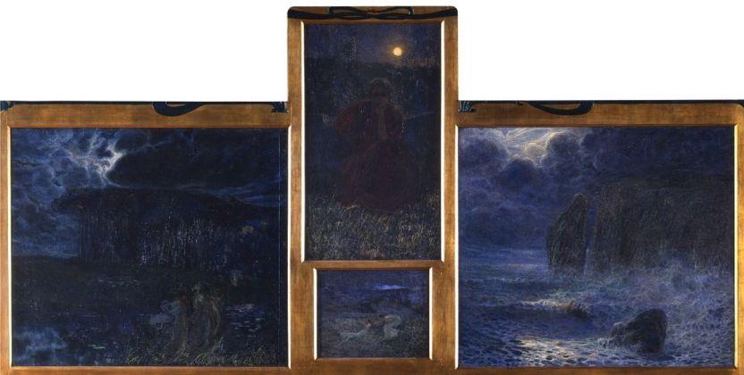 Plinio Nomellini, Sinfonia della luna, 1899. Fondazione Musei Civici di Venezia, Galleria Internazionale d'Arte Moderna di Ca' Pesaro
