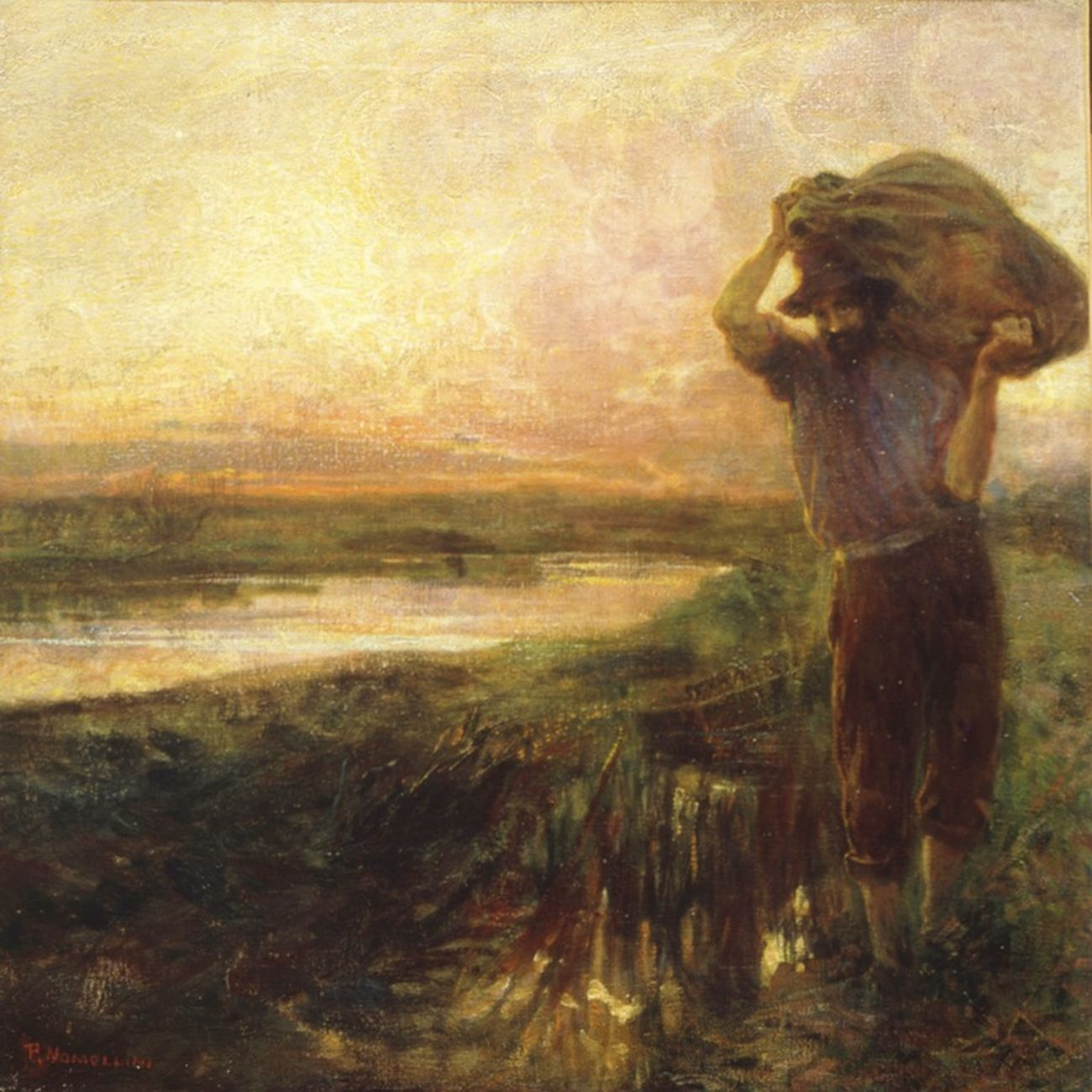 Plinio Nomellini, Tramonto a Torre del Lago, 1901. Collezione Piero Masoni