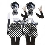 Deborah Roberts Political Lambs in a Wolf's World, 2018 Mixed media on paper 96.52 x 99cm (38 x 39in)Photo credit: Robert Beam