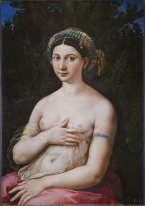 Raffaello Sanzio, La Fornarina. Roma, Gallerie Nazionali Barberini Corsini
