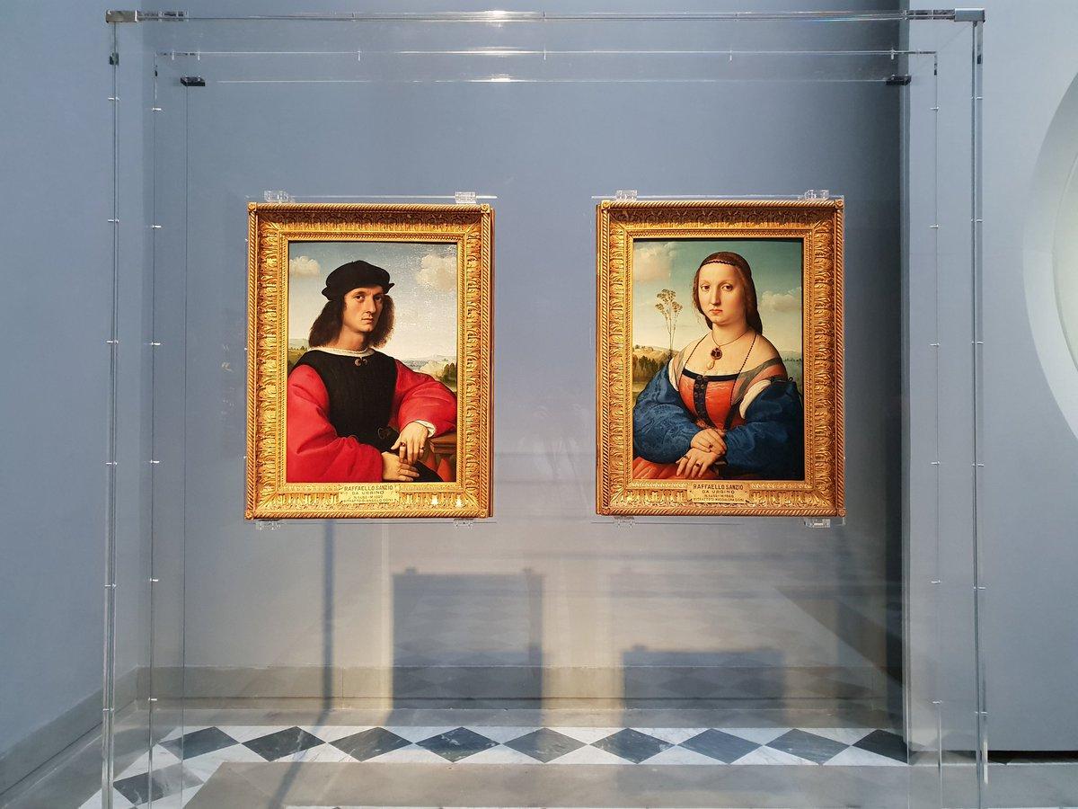 Raffaello Sanzio, i ritratti di Agnolo Doni e Maddalena Strozzi
