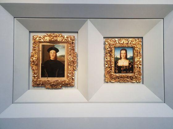 Raffaello Sanzio, i ritratti di Guidobaldo da Montefeltro e Elisabetta Gonzaga