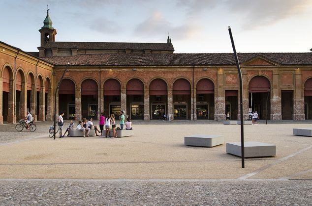 La piazza del Pavaglione di Lugo – Omaggio a Luigi Ghirri, Foto Luca Nostri