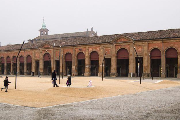 La piazza del Pavaglione di Lugo – Omaggio a Luigi Ghirri, Foto Gabriele Lungarella