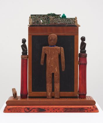 Betye Saar Shaman (Back)1991 Mixed media assemblage 12 x 11.5 x 3 in (30.48 x 29.21 x 7.62 cm)