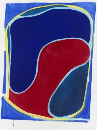 Sadie Laska, Untitled (Pepsi Shape), 2017, Oil, acrylic, spray paint on canvas, 2438 x 1829mm ©Sadie Laska, Courtesy Newport Street Gallery