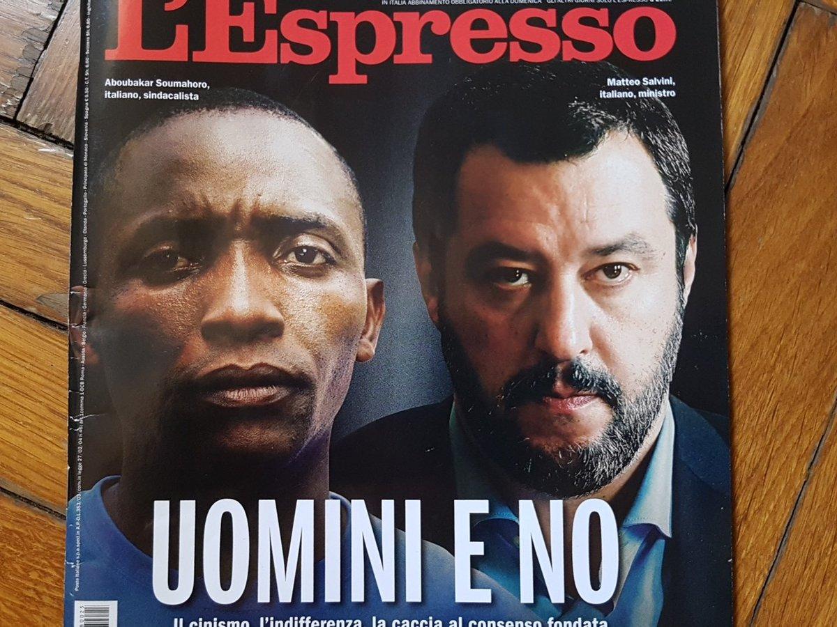 Salvini su una durissima copertina de L'Espresso