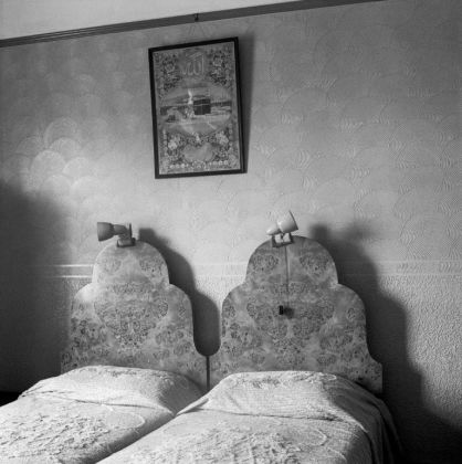 David Goldblatt, The bedroom of Ozzie and Sarah Docrat before its destruction under the Group Areas Act, Fietas, Johannesburg. 1977. David Goldblatt Goodman Gallery
