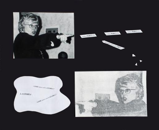 Tomaso Binga, La Storia, 1994. Photo Grazia Menna