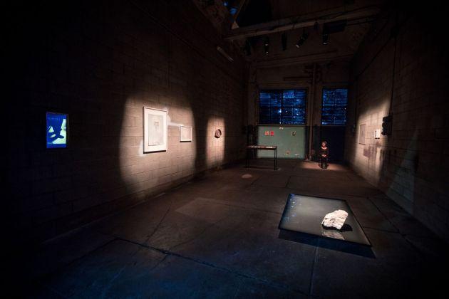 Veduta della mostra La stanza del padre e performance di Agata Torelli, Forlì 2018. Photo Gianluca Camporesi