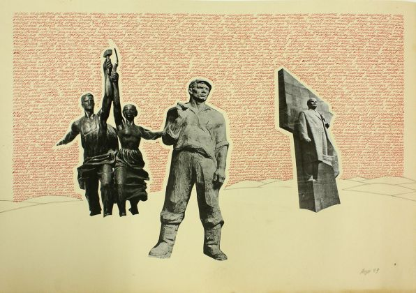 Vyacheslav Akhunov, Red Mantra CCCP (Soviet Mantrism). The victory of Communism is inevitable, dalla serie The desert of oblivion, 1979. Courtesy Laura Bulian Gallery, Milano