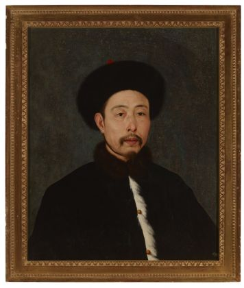 Yinchuan Biennale 2018. Giuseppe Castiglione, Portrait of Emperor Qianlong in Winter Suit. Courtesy MOCA Yinchuan Collection