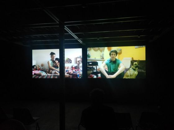 ZimmerFrei, Family Affair, coprodotta da Ipercorpo 2017 e allestita all'EXATR per Ipercorpo 2018. Photo Daniele Perra