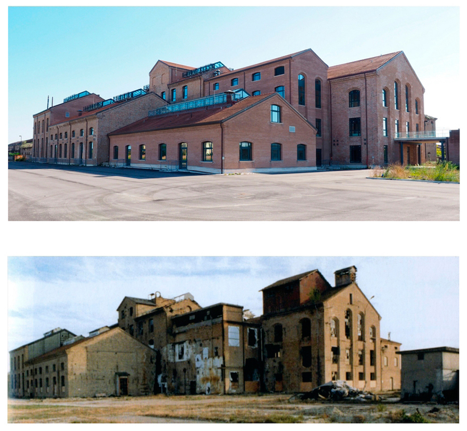 Classis Ravenna prima e dopo il recupero dell'edificio