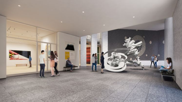 Envisioning the new lobby area of the Hood Museum of Art at Dartmouth College. Rendering by MARCH