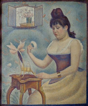 Georges Seurat (1859-1891) Young Woman Powdering Herself, around 1888-1890. Oil on canvas 95.5 x 79.5 cm The Courtauld Gallery (The Samuel Courtauld Trust), London
