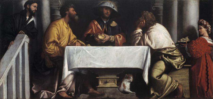 Alessandro Bonvicino detto il Moretto, Cena in Emmaus, 1527 ca. Brescia, Pinacoteca Tosio Martinengo © Fondazione Brescia Musei