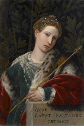 Alessandro Bonvicino detto il Moretto, Ritratto di gentildonna come Salomé, 1537 ca. Brescia, Pinacoteca Tosio Martinengo © Fondazione Brescia Musei