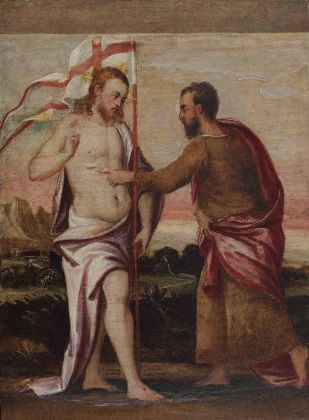 Andrea Schiavone, Incredulità di Gesù e San Tommaso, XVI sec.