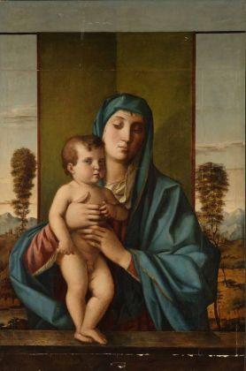 Anonimo copista, Madonna degli Alberelli da G. Bellini, sec. XIX